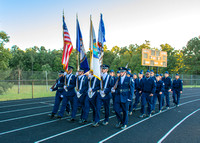 MHS Color Guard, Monacan Homecoming, 9/29/17